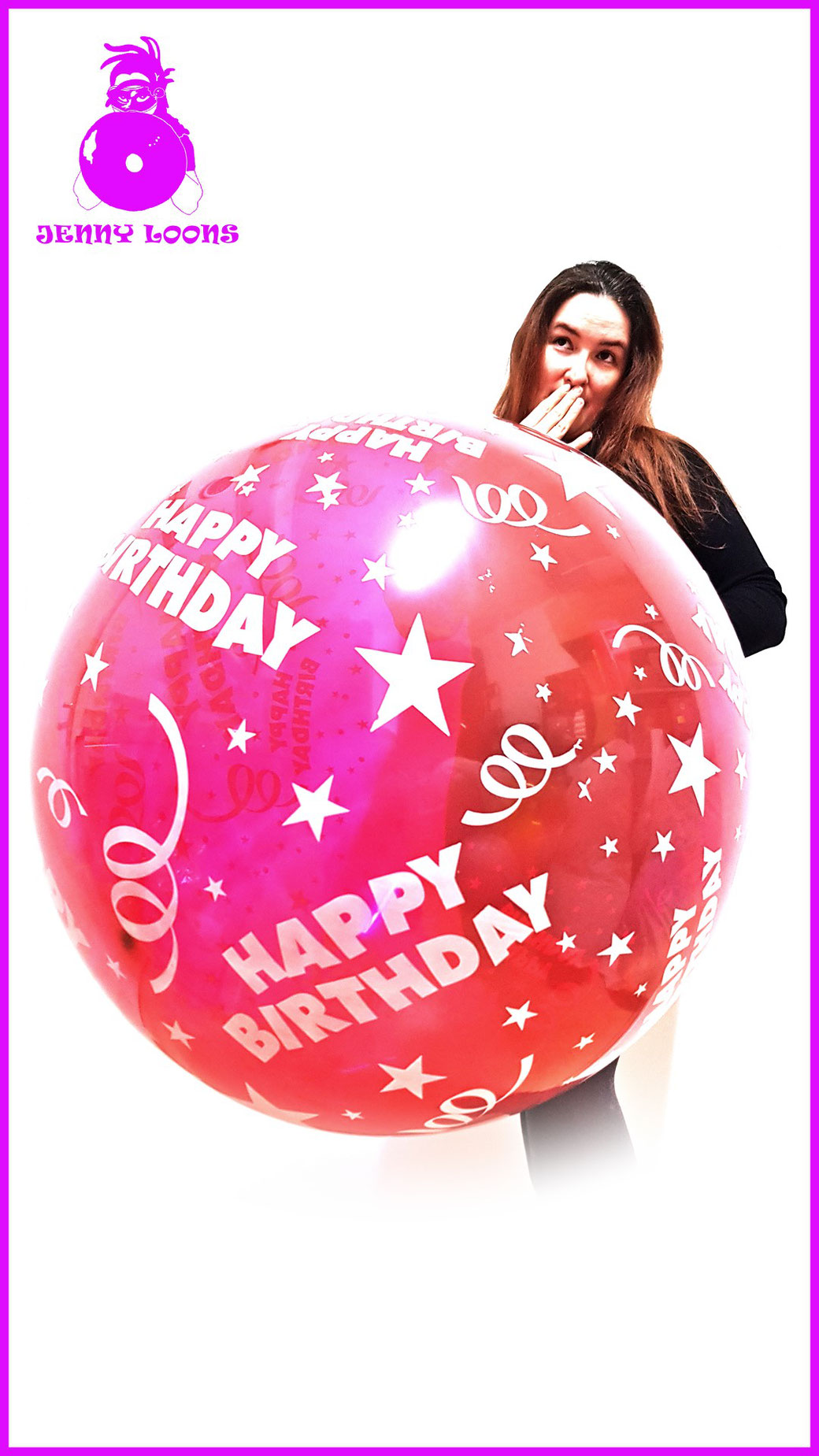 JENNY LOONS CATTEX 32inch 81cm Riesenballon Giant Balloon Happy Birthday Geburtstag