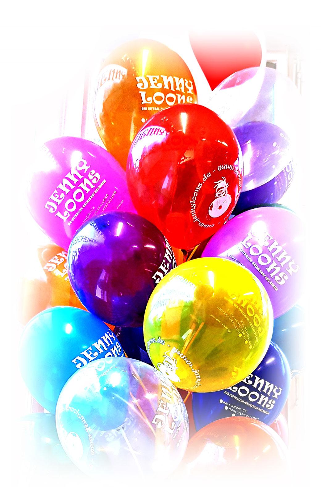 Wir bedrucken Luftballons mit ihrem Logo oder Werbeslogan - Werbeballons