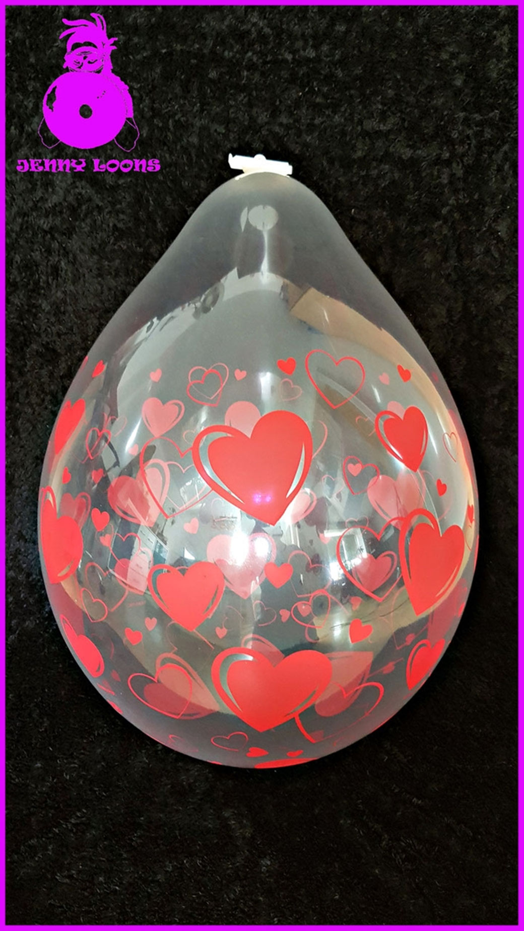 "QUALATEX 18"" Hearts & Hearts Ballon"