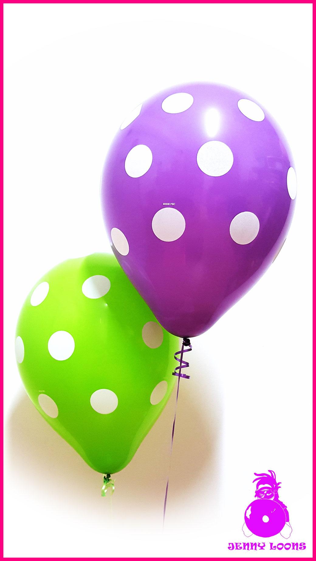 QUALATEX 16inch Polka Dots Pastel Punkte Luftballons Balloons Rockabilly