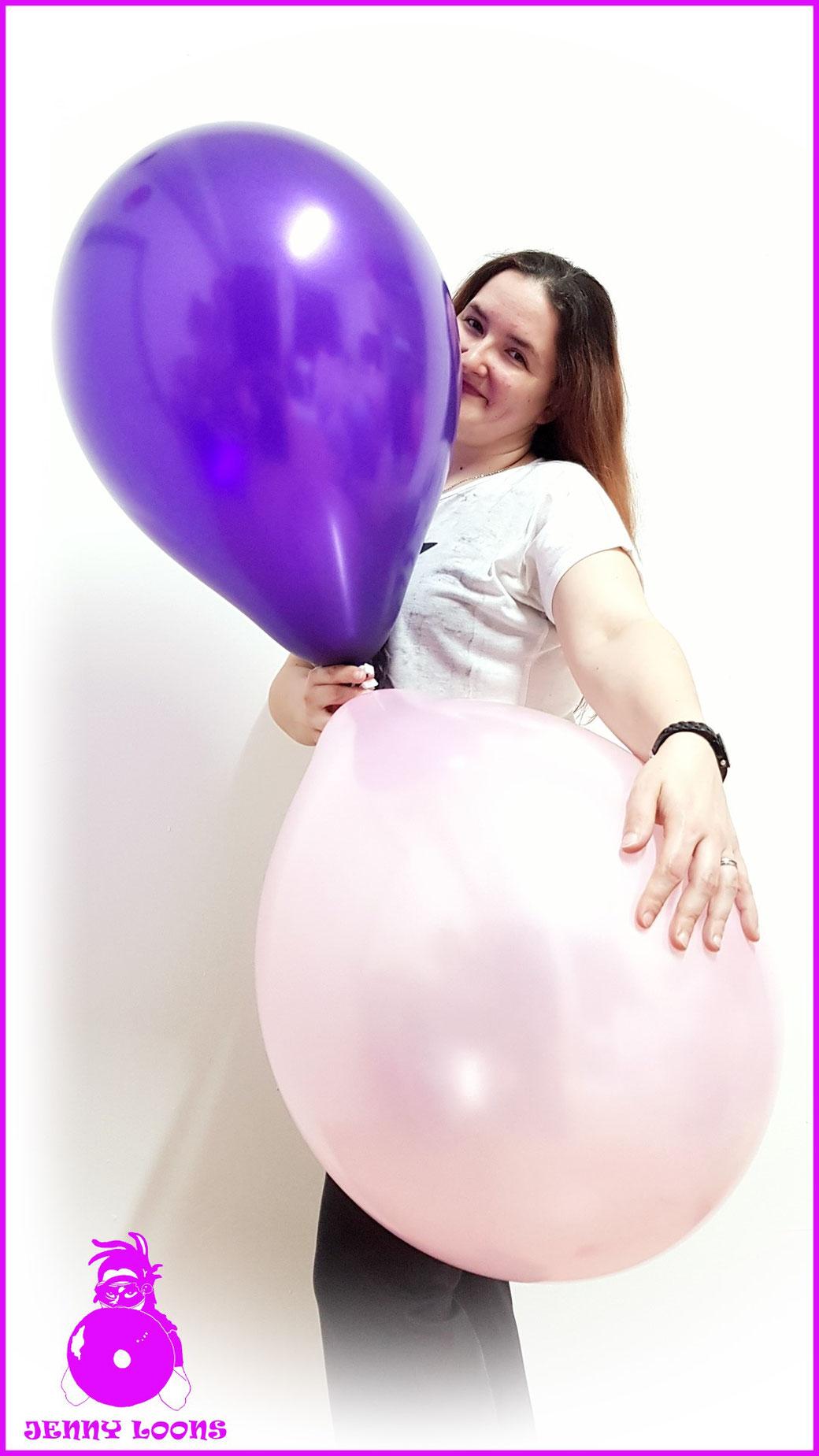 Qualatex Luftballon Ballon Pearl 16inch 40cm rosa rose lila purple Balloon Balloons
