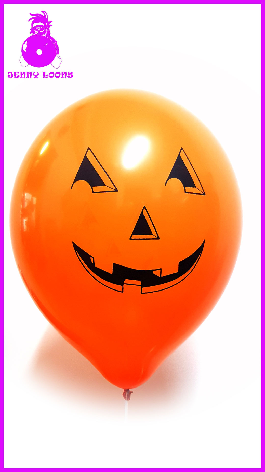 "TUFTEX 17"" PUMPKIN FACE KÜRBIS GESICHT ORANGE HALLOWEEN LUFTBALLON BALLOON"
