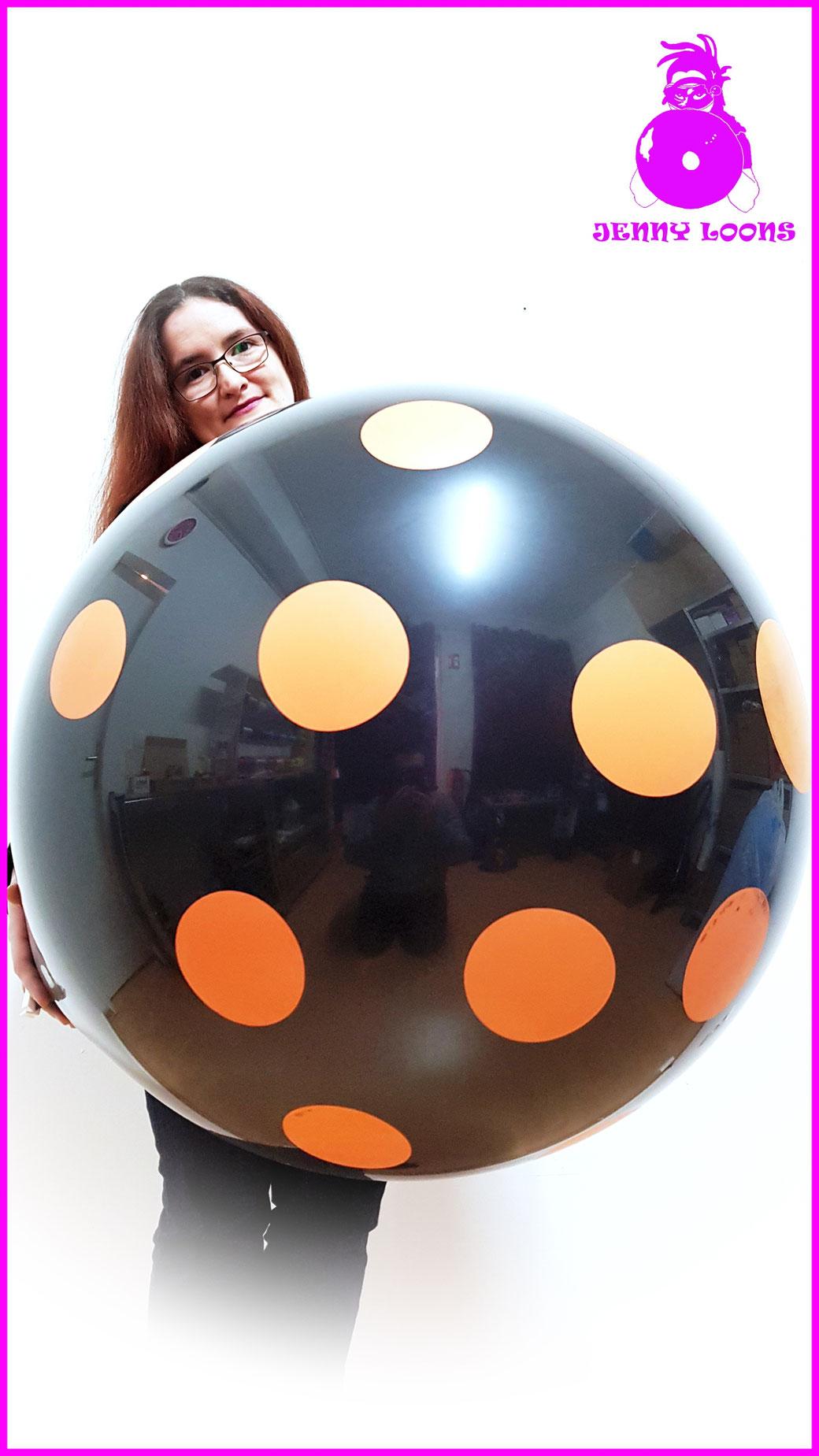 """CATTEX 32"""" 80cm Riesenballon Punkte Dots Giant Balloons Gold"""