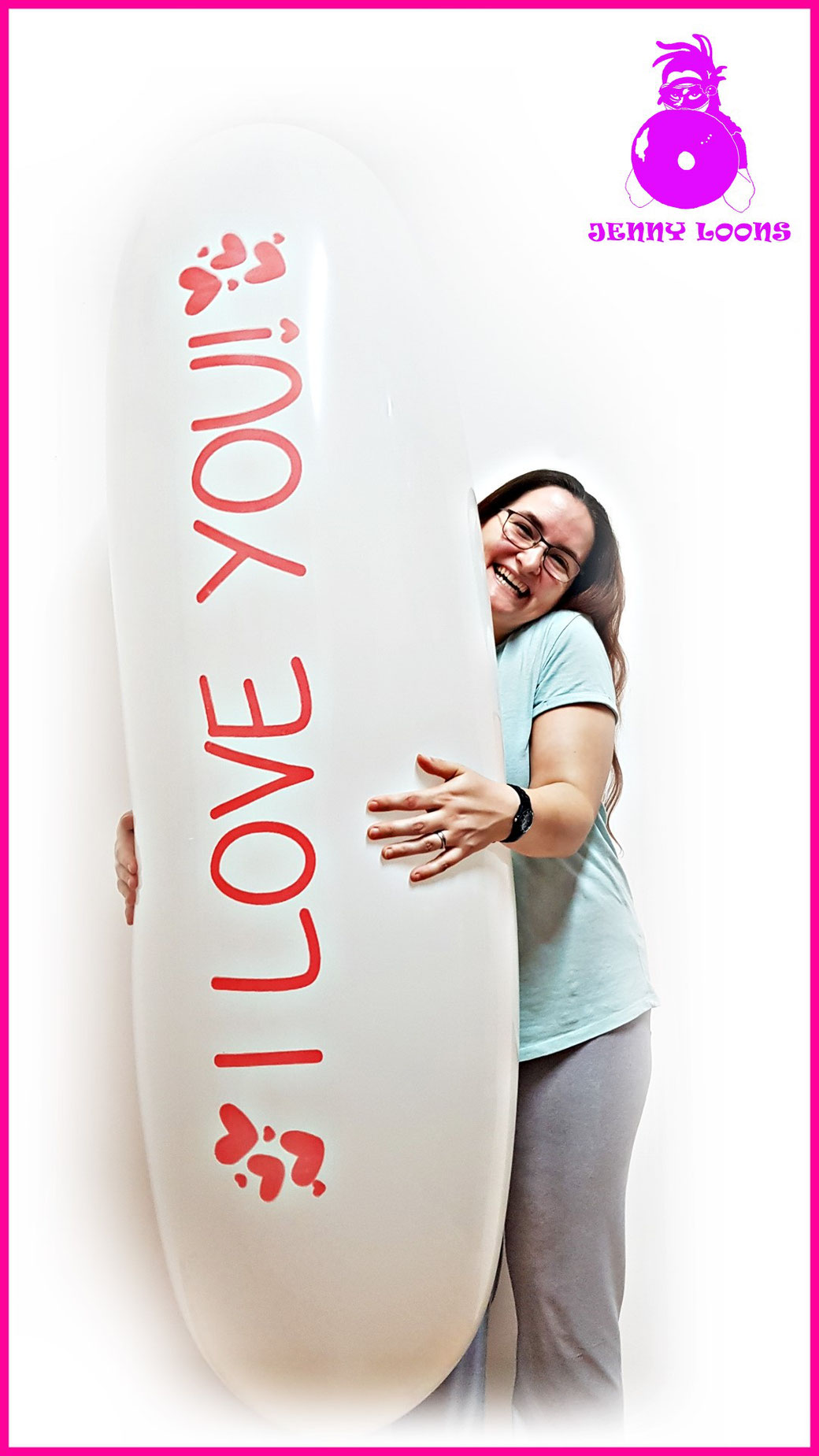 CATTEX I love you Ich liebe dich Luftballon Giant balloon Banner Zeppelin Riesenballon