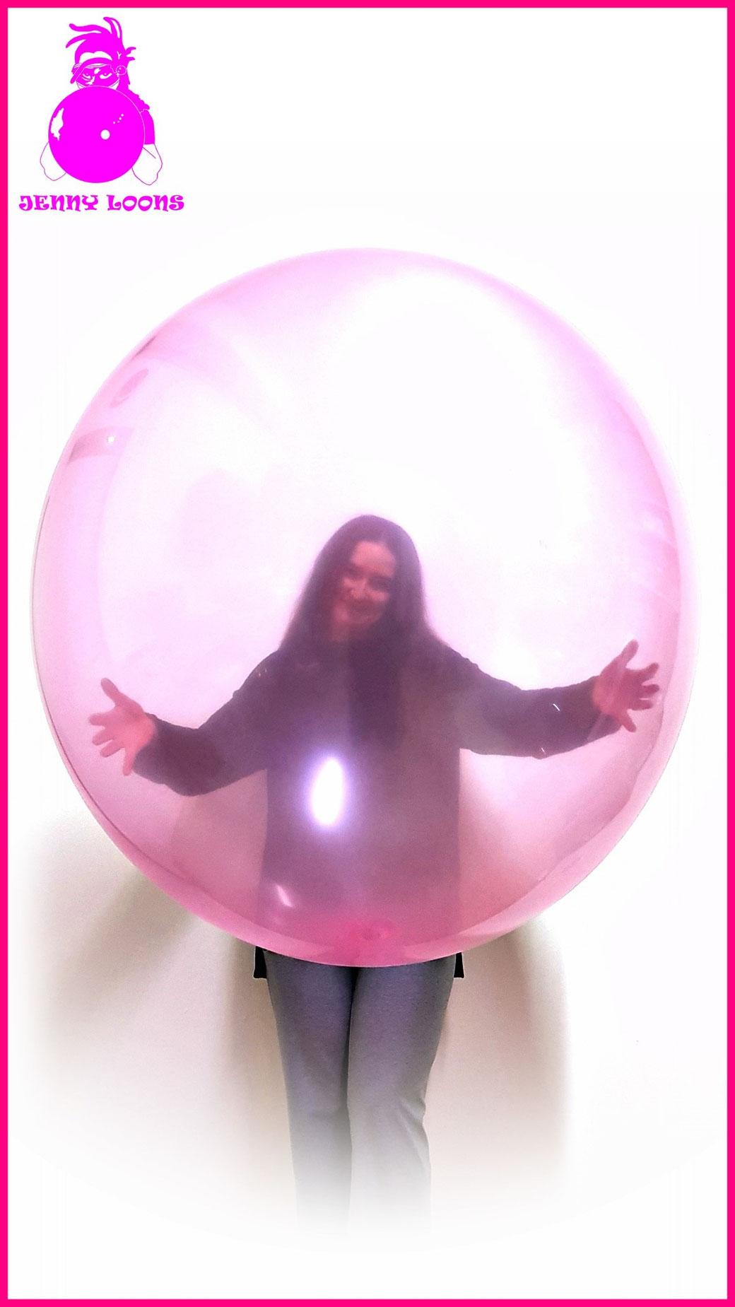 Luftballon Riesenballon Transparent Gian Balloon Kristallfarben Crystal colors cattex