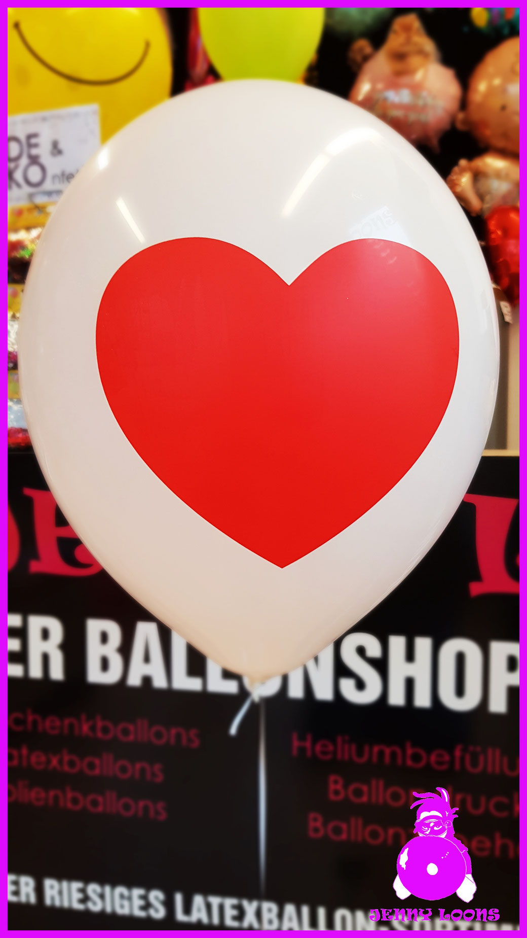 "TUFTEX 17"" Heart herz Luftballon Balloon"