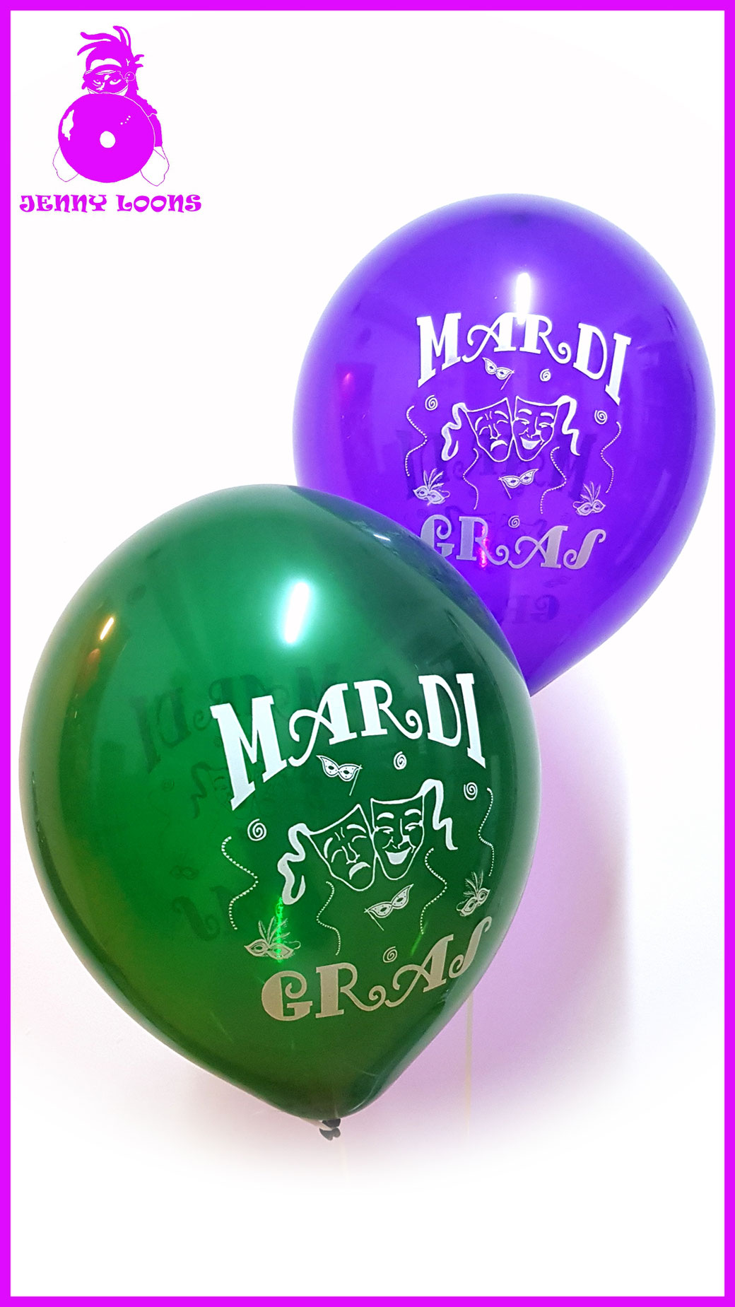 TUFTEX MARDI GRAS Luftballon Balloon grün lila gelb kristall green purple yellow crystal