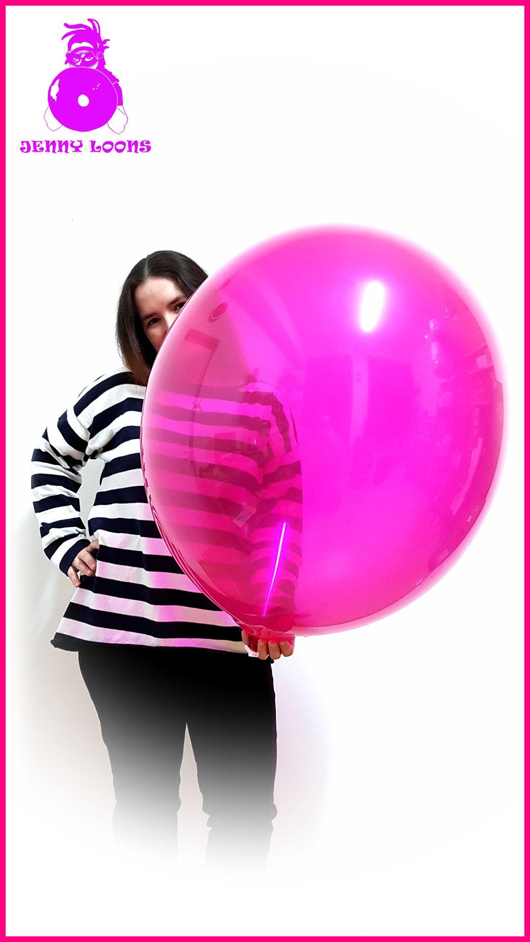 "TUFTEX TUF-TEX Luftballons Riesenballons Ballons Balloons 24inch 24"" 60cm Riese Giant Looner Kristall Crystal pink colors fun party Hameln Ballonshop Heliumballons"