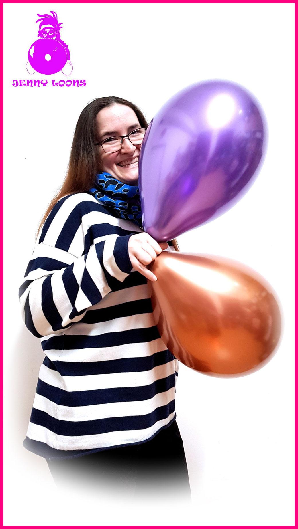 "CATTEX 12"" Decor Decoration Titanium Chrome Luftballons Balloons"
