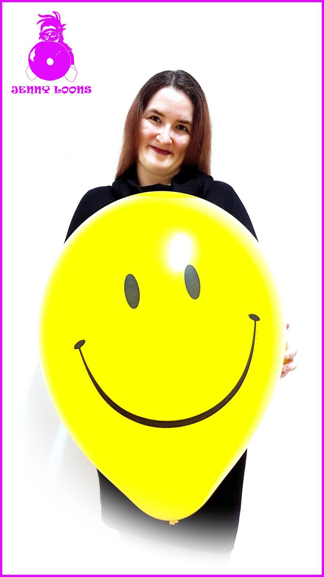 Qualatex Luftballon Ballon Smiley Smile 16inch 40cm Face gelb yellow Balloon Balloons