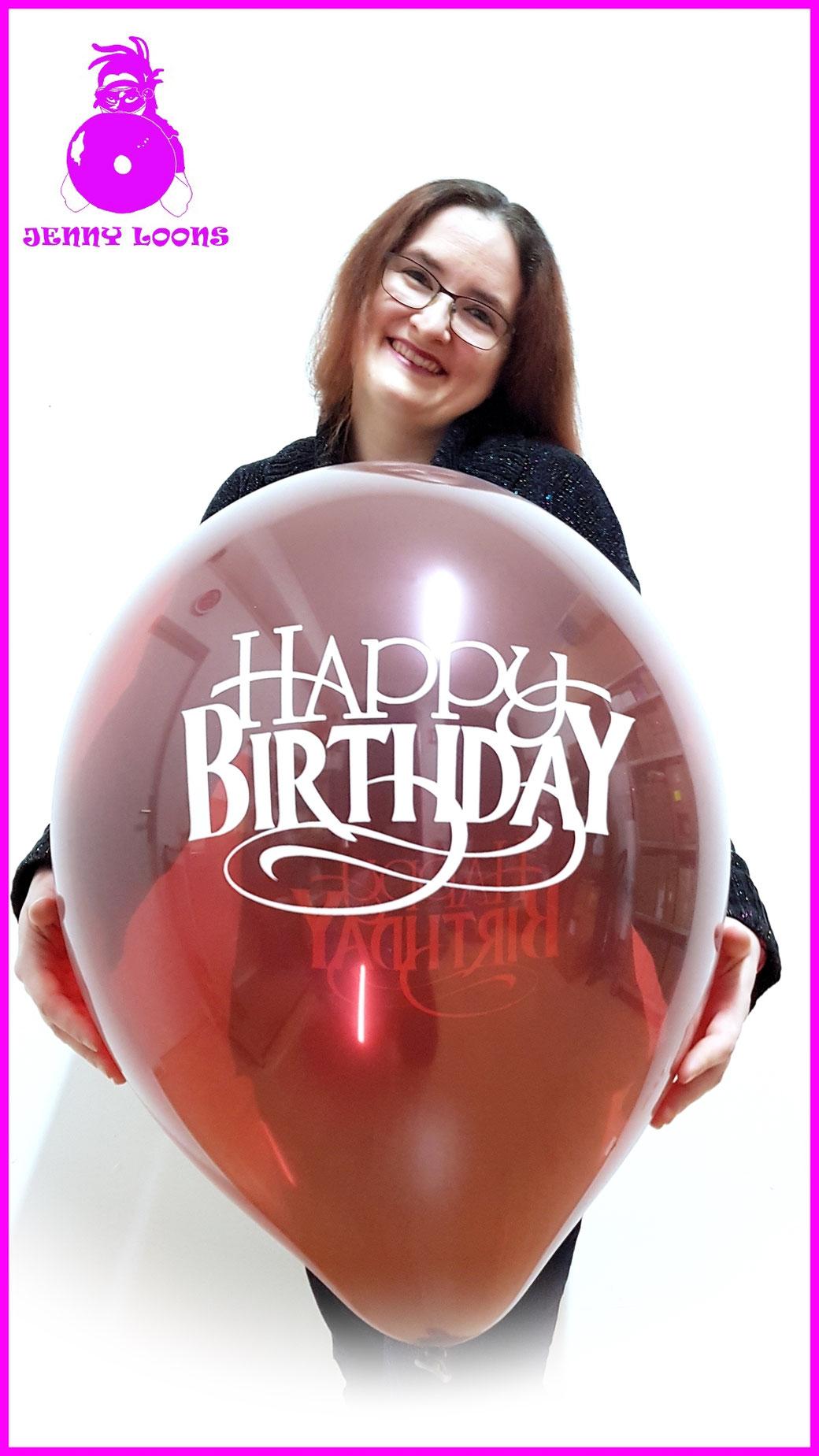 TUFTEX Luftballons Happy Birthday Geburtstag Riesenballons Überraschung