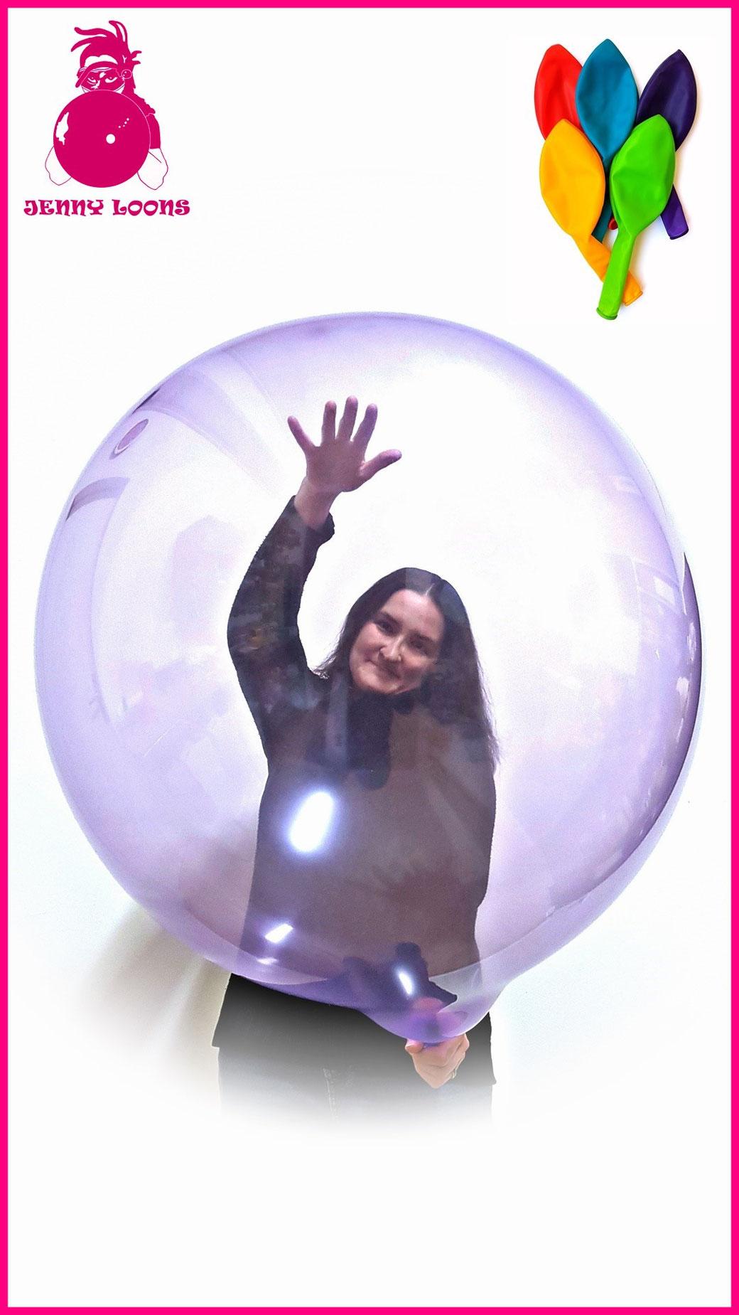 JENNY LOONS Luftballons Soft Crystal Premium Latexballons Eigenmarke 100% Latex heliumgeeignet latexballoons
