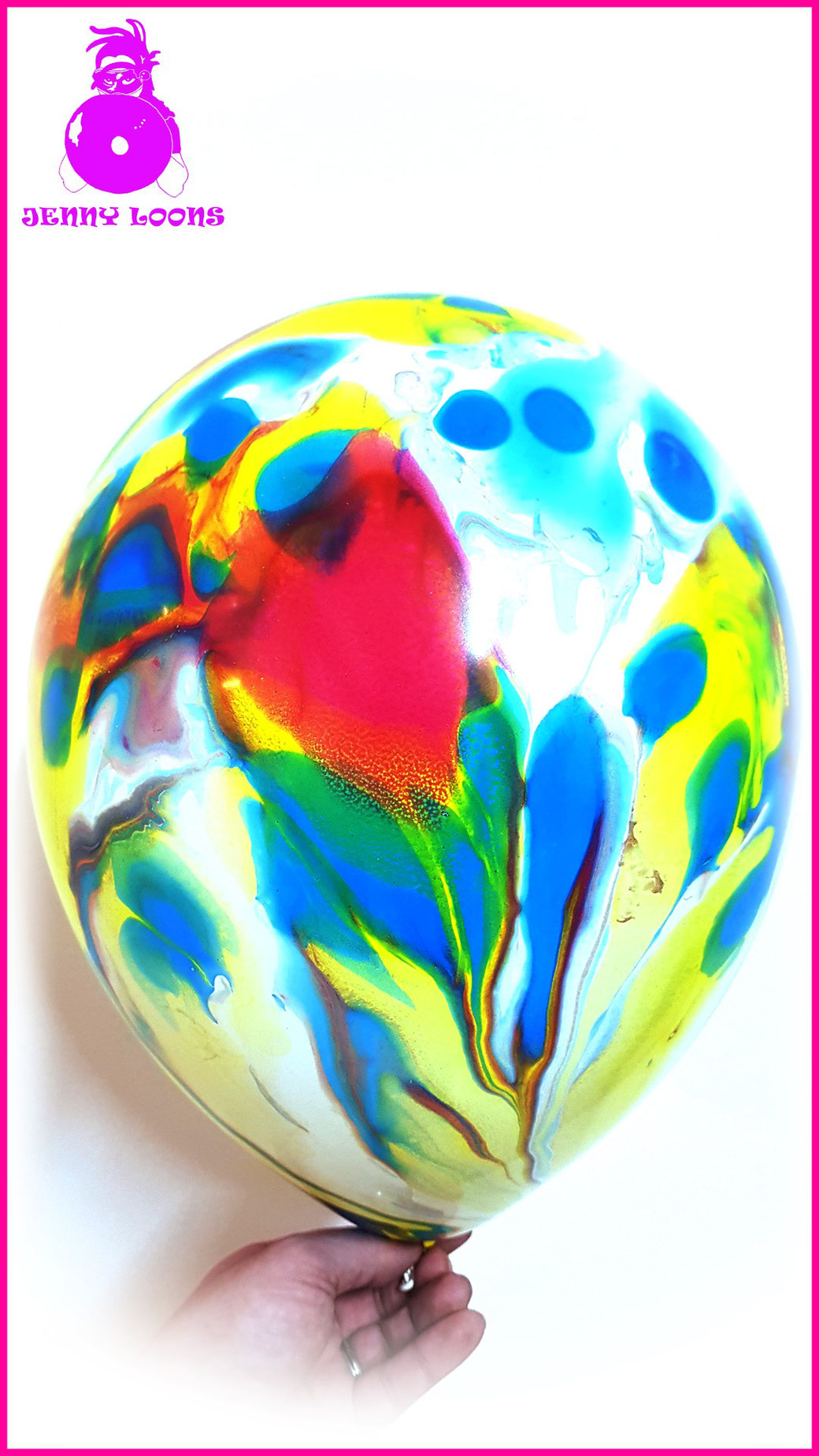 Unique Mexico Globos Payaso Latex Occidental Multicolor Marble