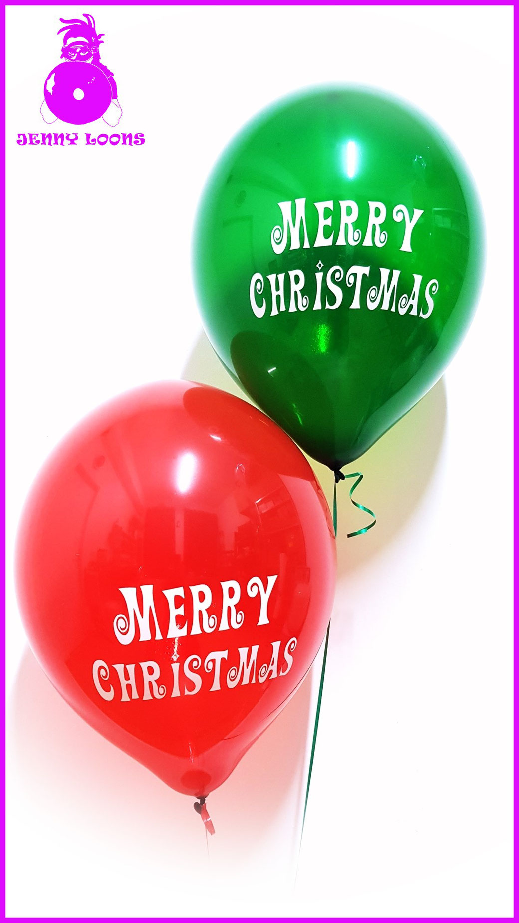 TUF-TEX TUFTEX 17inch Merry Christmas Weihnachten XMAS rot grün red green Weihnachtsmann Santa Clause Luftballons Balloons