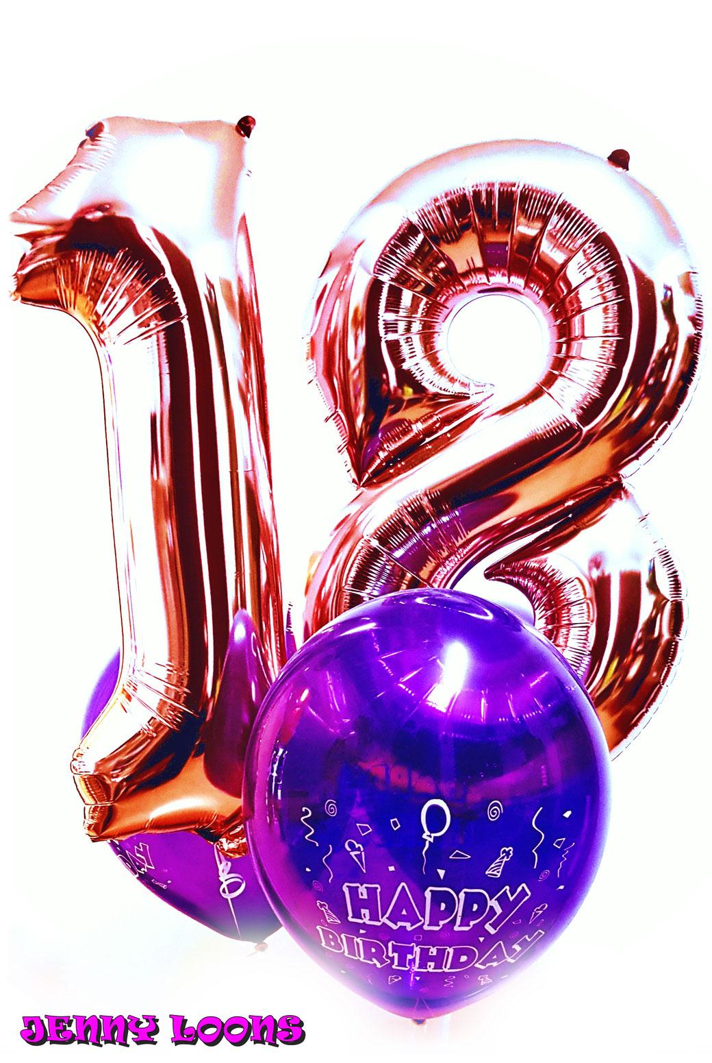 Geburtstag 18 volljährig Rosegold