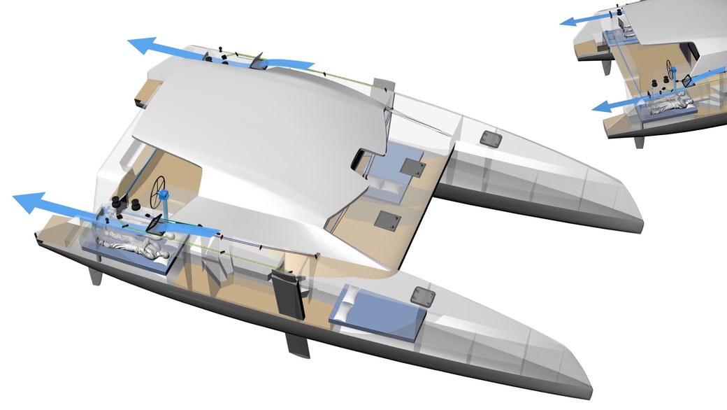 Raku cockpit Design - Providing for air flow in the aft cabin