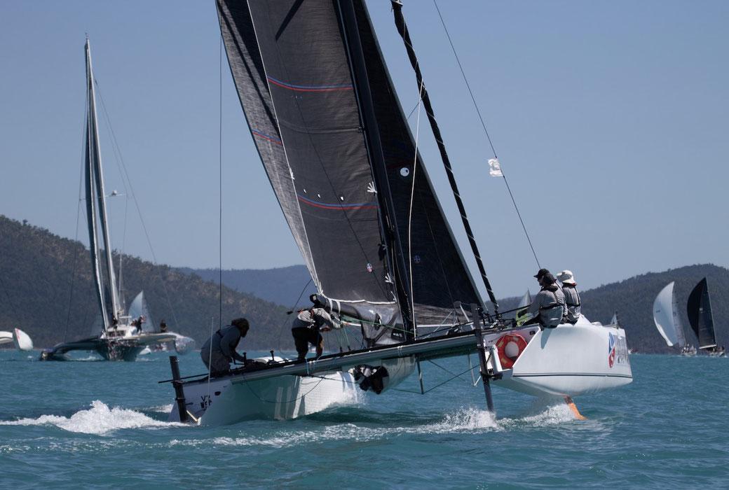 Catamaran racing at Hamilton Island
