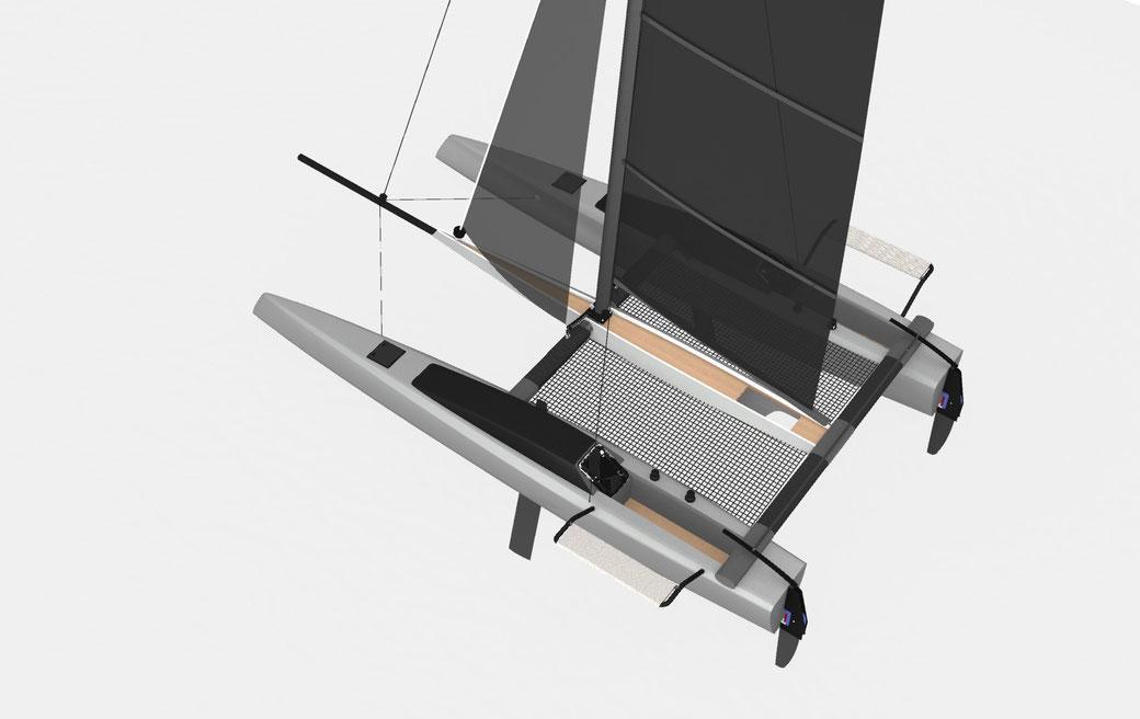Livewire 28 Sports Catamaran - Grainger Designs Catamarans