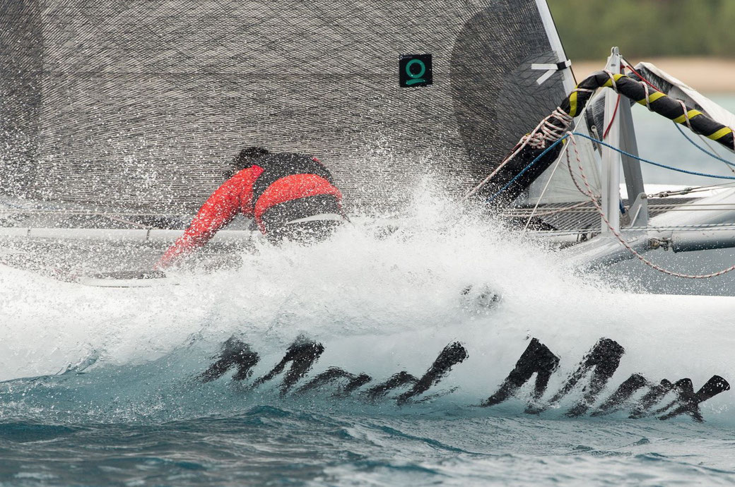 Great close up photo of Mad Max racing at Hamilton Island Race Week