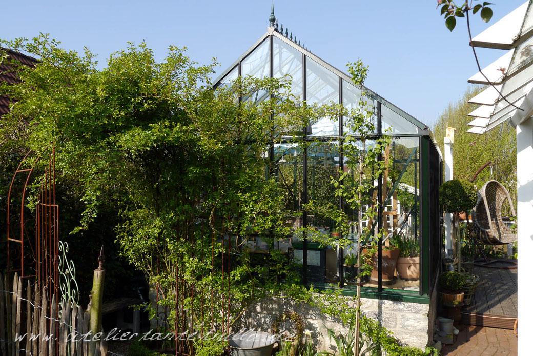 Gewächshaus im Garten von Conni Altmann