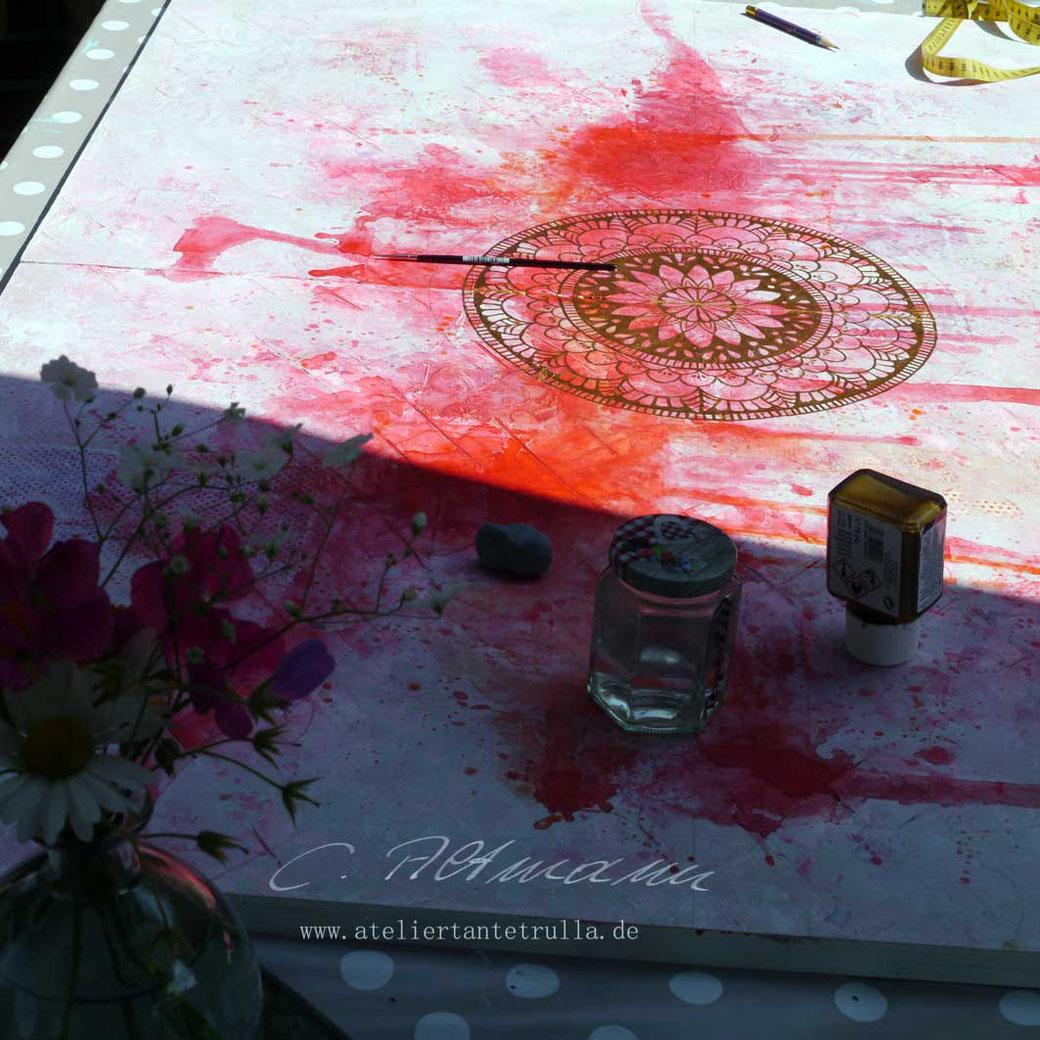 wip Mandala Gemälde