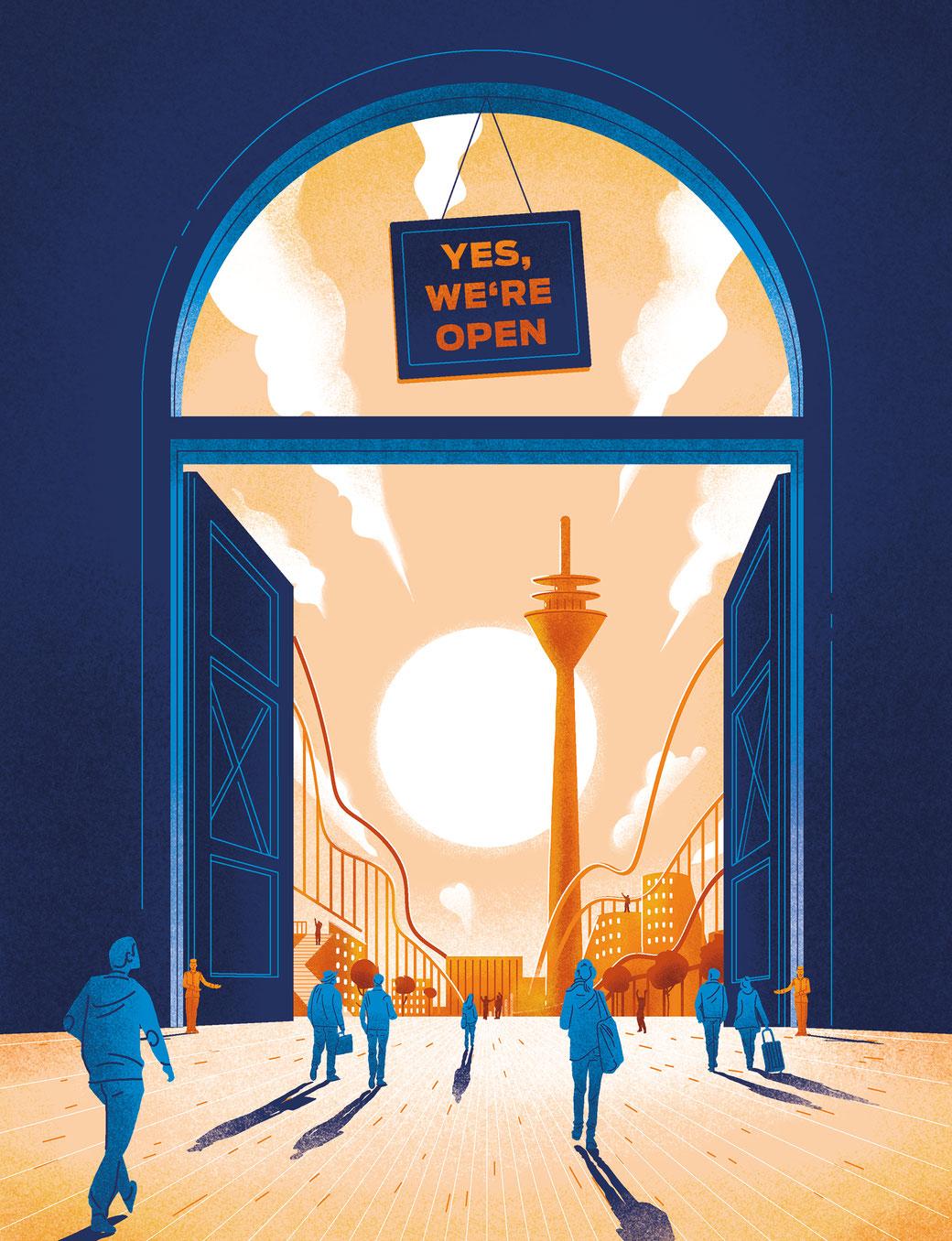 illustration griechische seefahrerin blickt nach vorn
