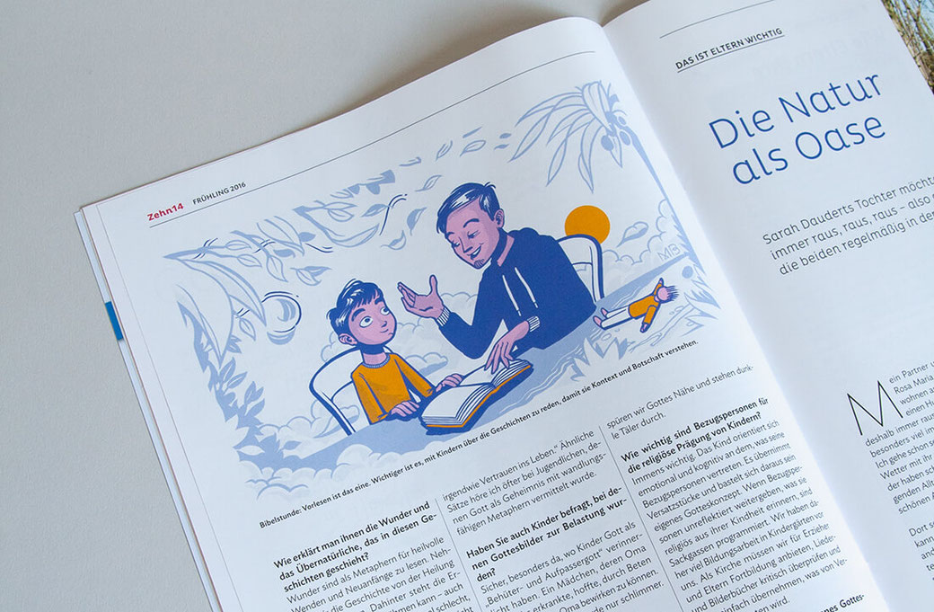 Magazin-Illustration Bibelstunde