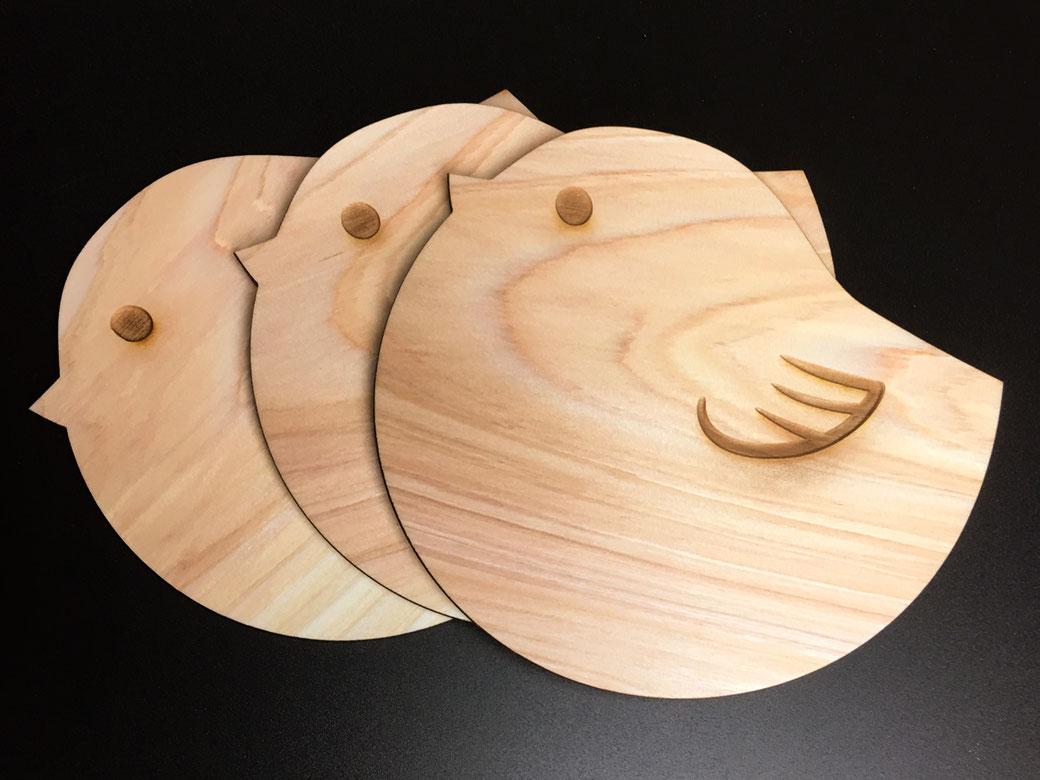 オーダーメイド 木の鳥さんコースター