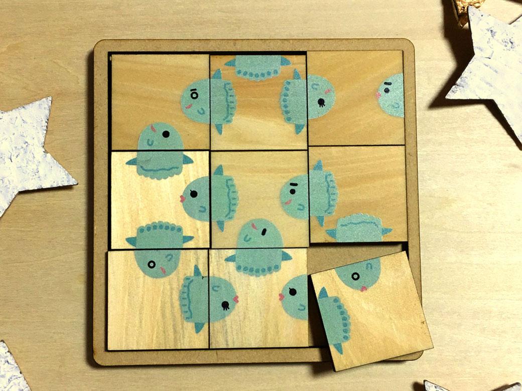 オリジナルの絵合わせパズル(木製)を製作