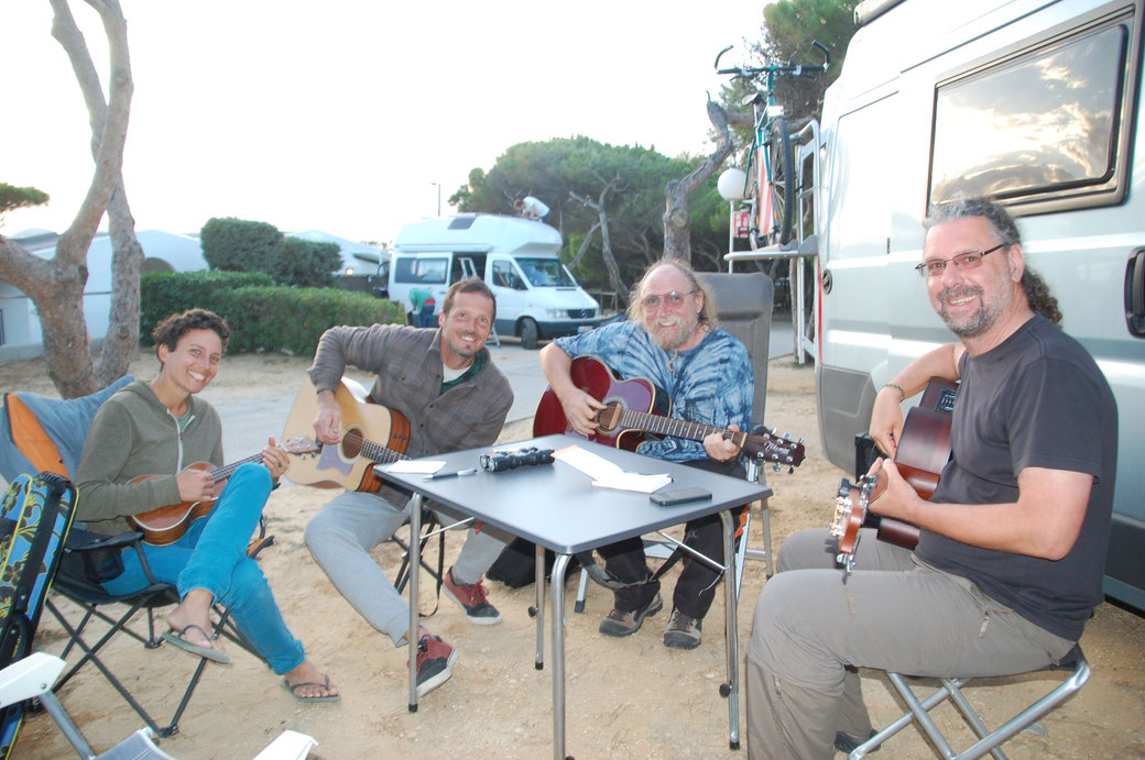 Quartetto mucho grandioso: Sarah, Max, Uwe, Peter.