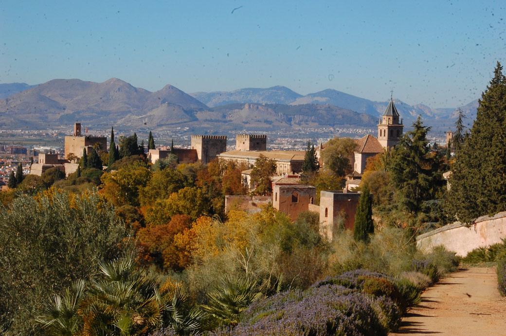 So, das isse nun: Die Alhambra von oben.