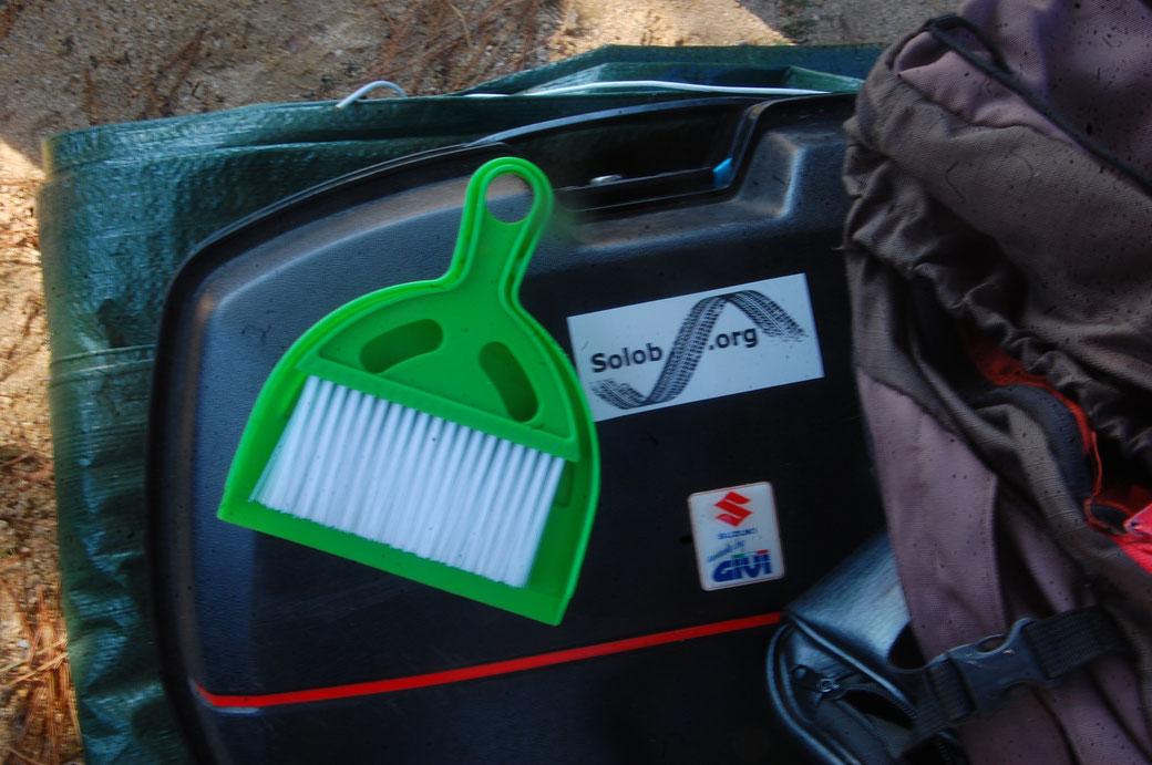 Meine neue Waffe gegen Sand, genial klein und sehr effektiv, muchas Gracias Peter.