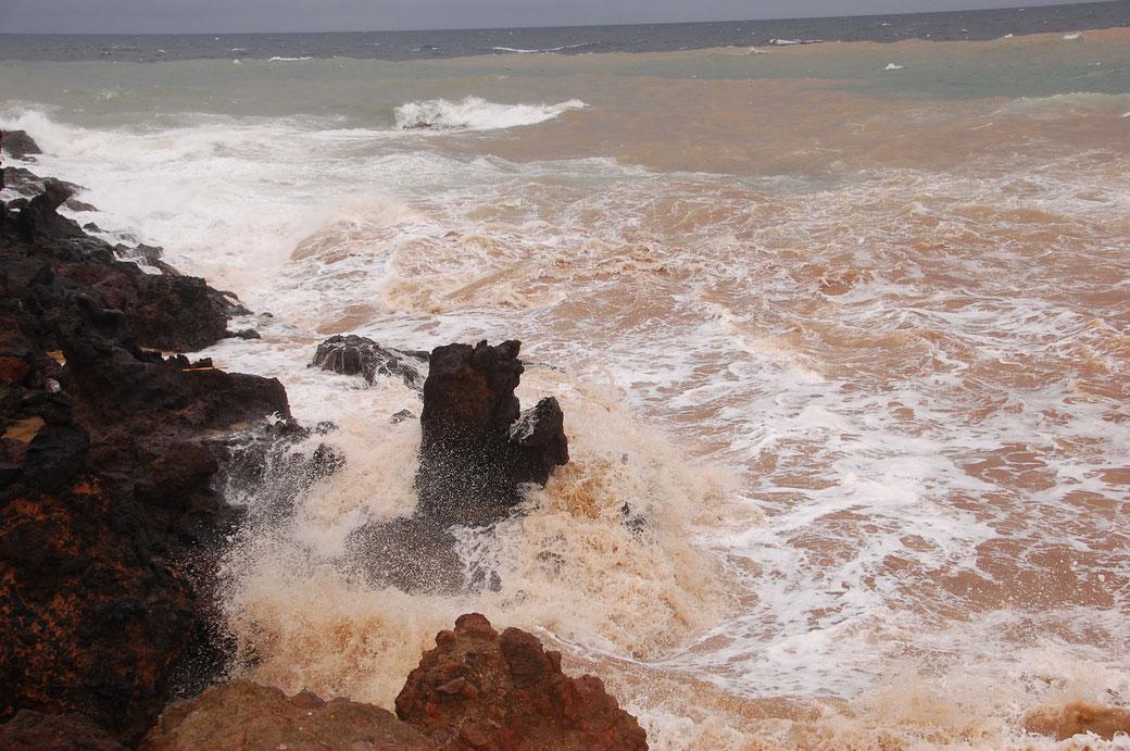 Es hat soviel Sand ins Meer gespült...