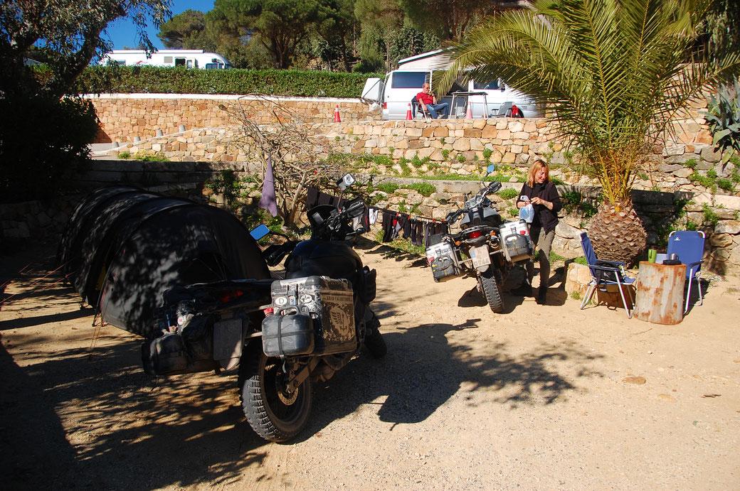 Das Krad-Nomaden Lager