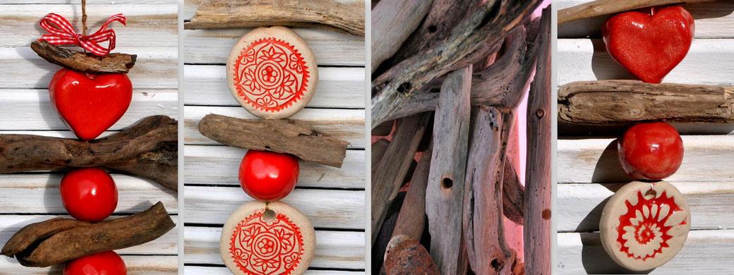 Treibholz - Keramik - Deko