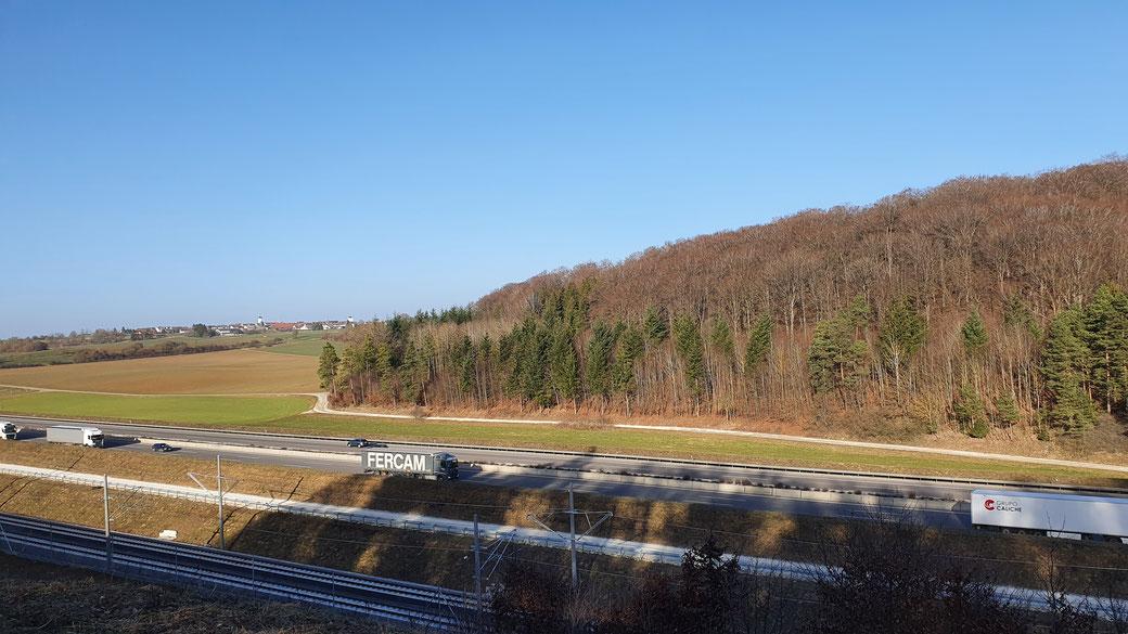 Ein letzter Blick auf Scharenstetten - bald hab` ich es geschafft...