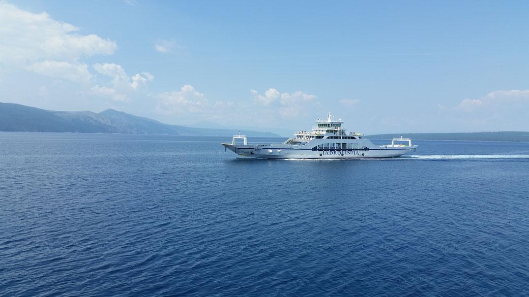Als wir wieder mit der Fähre zurück auf die Insel Krk schippern, begegnet uns eine weitere...