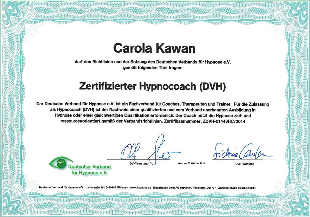 Zertifizierter Hypnocoach (DVH)