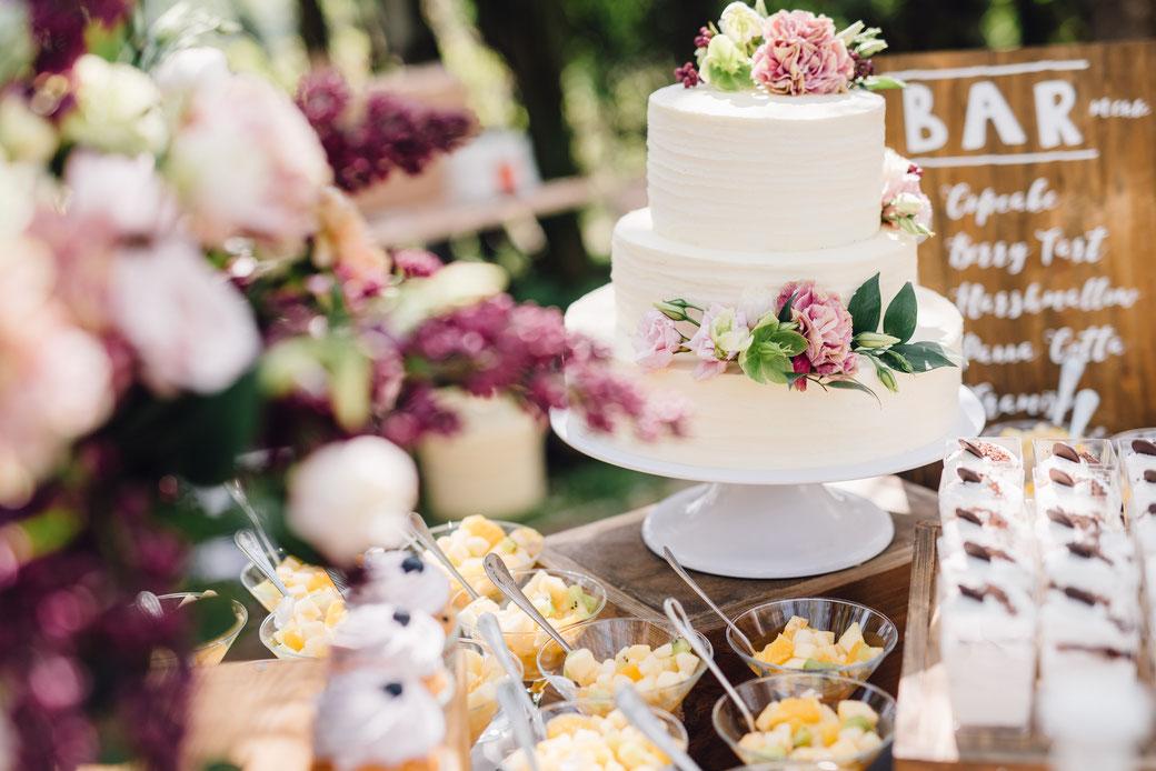 Torte für die Hochzeit