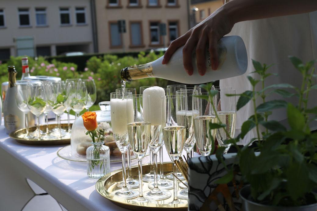 Sektempfang Rodgau Hochzeit