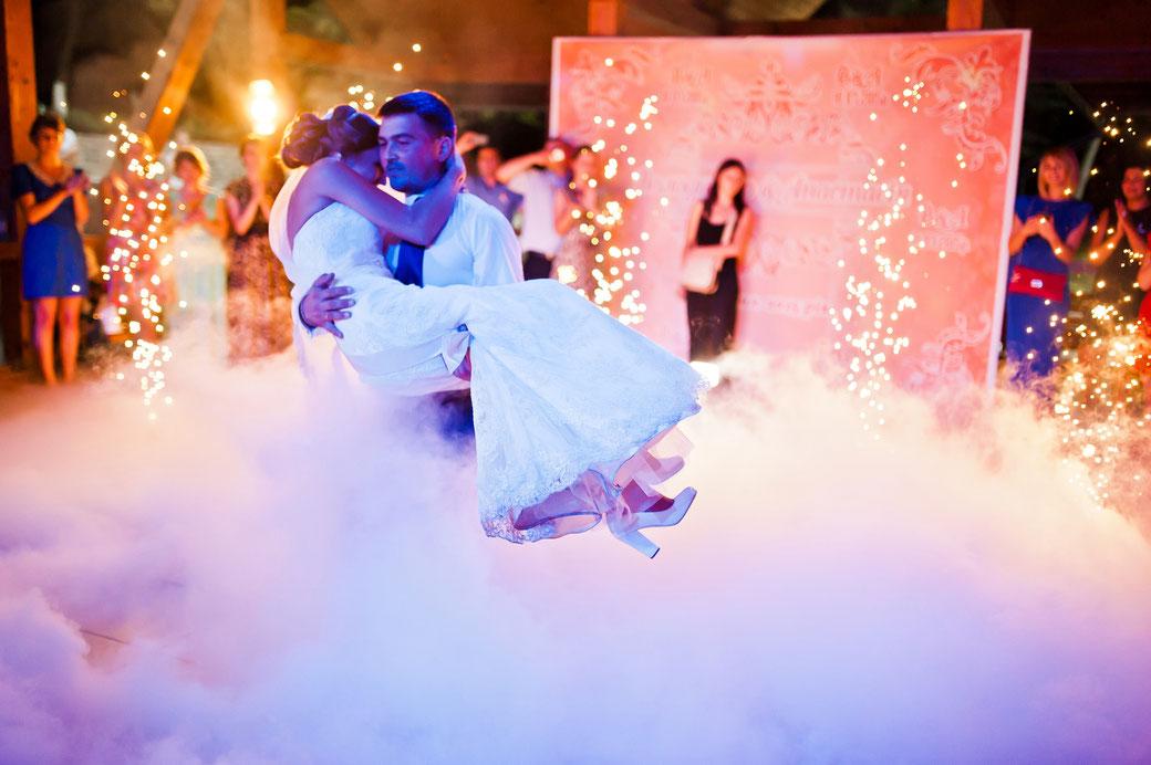 Bodennebel Hochzeitstanz Hochzeit Nebel Hazer