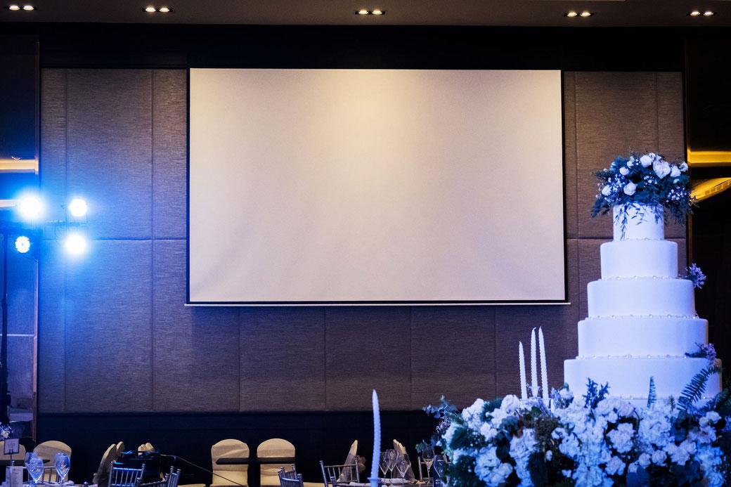 Leinwand Beamer Hochzeit Rodgau