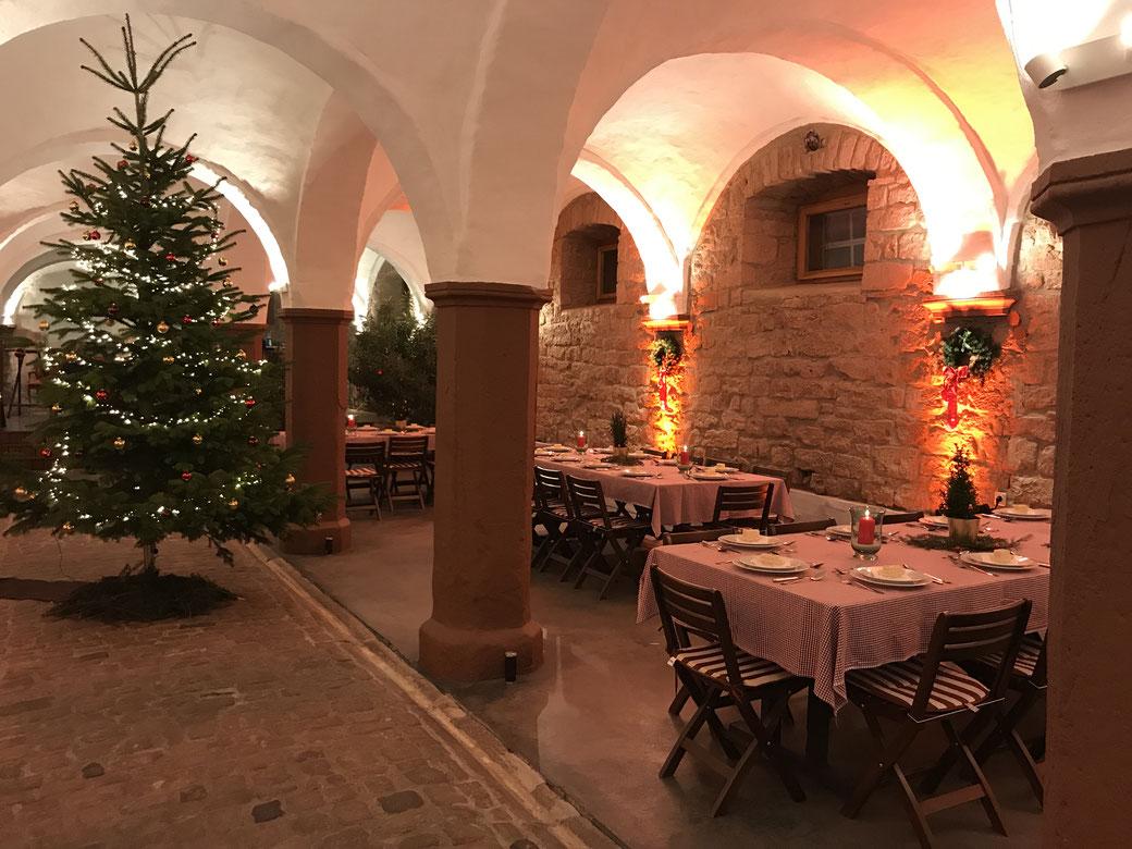 Weihnachtsfeier Gewölbekeller Firmen-Event