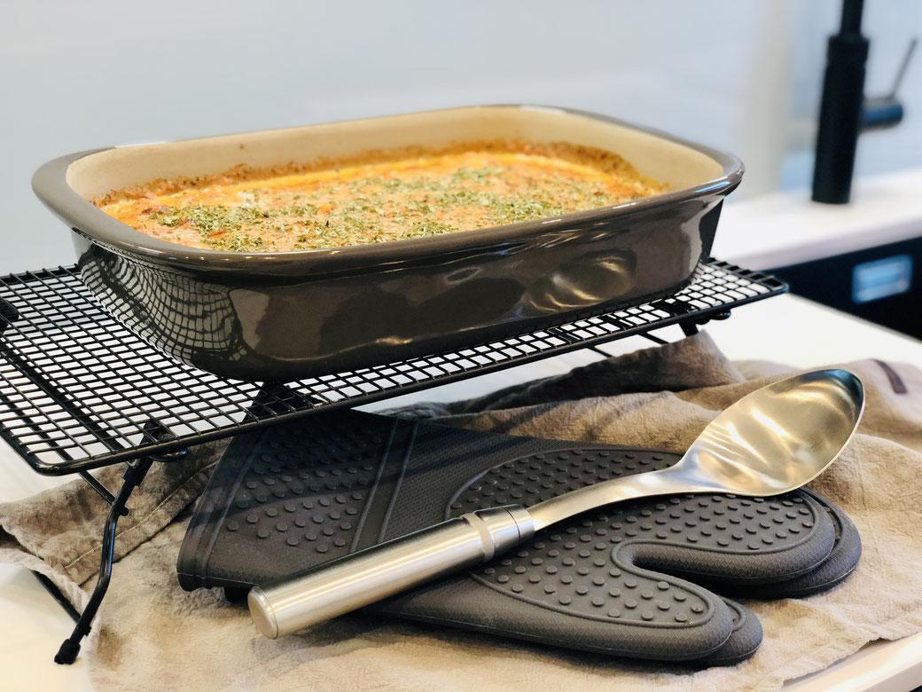 Lasagne aus Maultaschen, zubereitet in der Stoneware von Pampered Chef® - Grundset oder rechteckige Ofenhexe - Lecker und RuckZuck fertig ♥