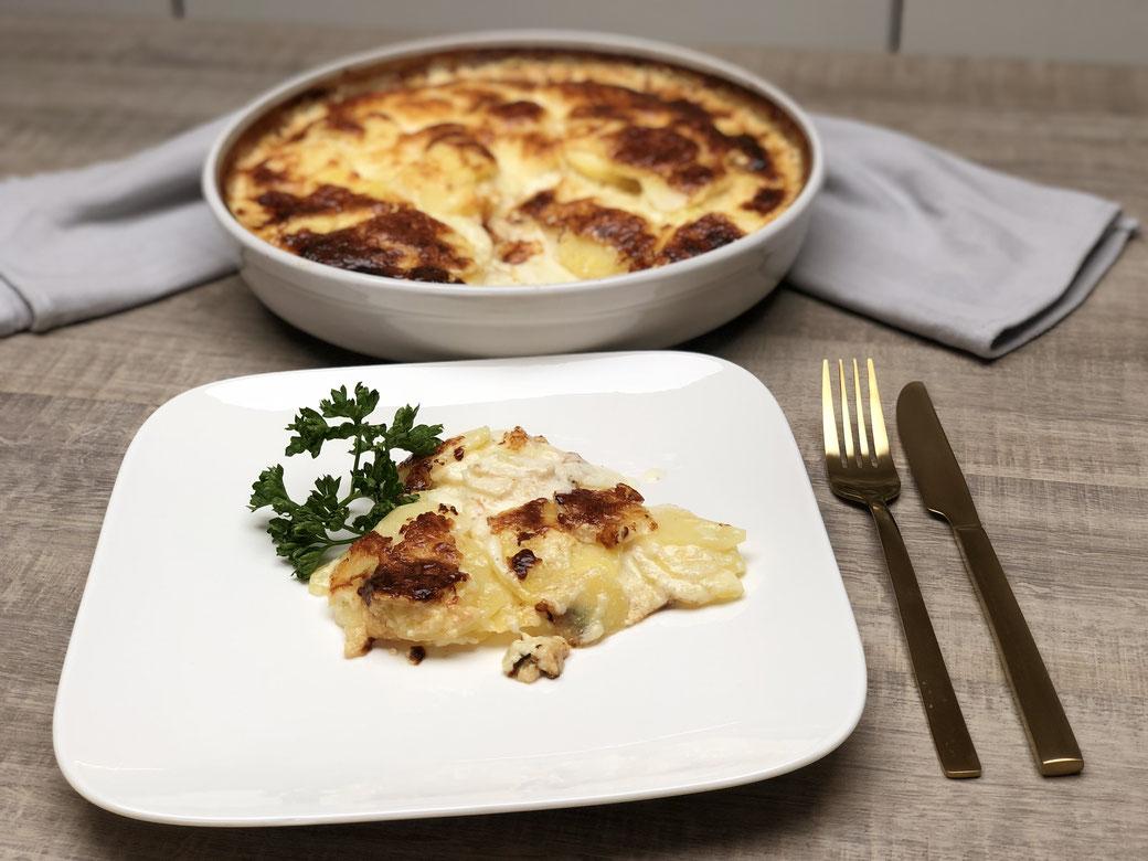 Schnell zubereitet in der runden Ofenhexe® von Pampered Chef® - Kartoffelgratin