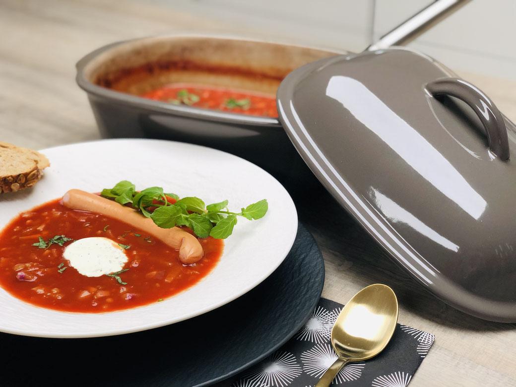 Leckere Suppe die du schnell in deinen Ofenmeister schnippelst - Ruckzuck zubereitet und orientalisch lecker