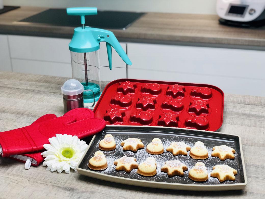 Super fluffige leckere Kekse aus den neuen Motivbackformen von Pampered Chef. Herbstzeit und Winterzeit Backform