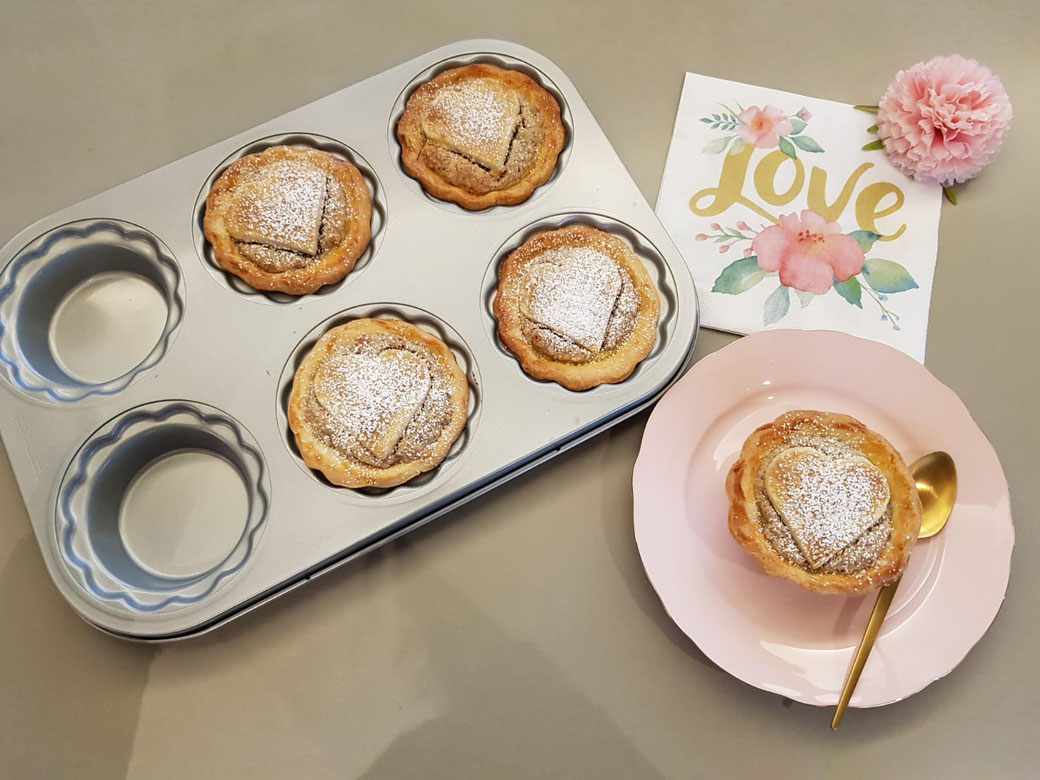 Die leckersten Apfel-Nuss Pies/Tarte aus der Pamperedchef Mini-Pieform.