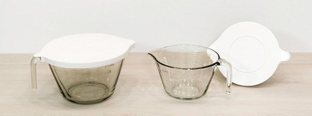 Nixe von Pamperedchef Deckel und Schüssel sind spülmaschinenfest, mikrowellen- und gefrierschranksicher. Die Glasschüssels sind backofenfest bis 180 °C. 2 Liter.