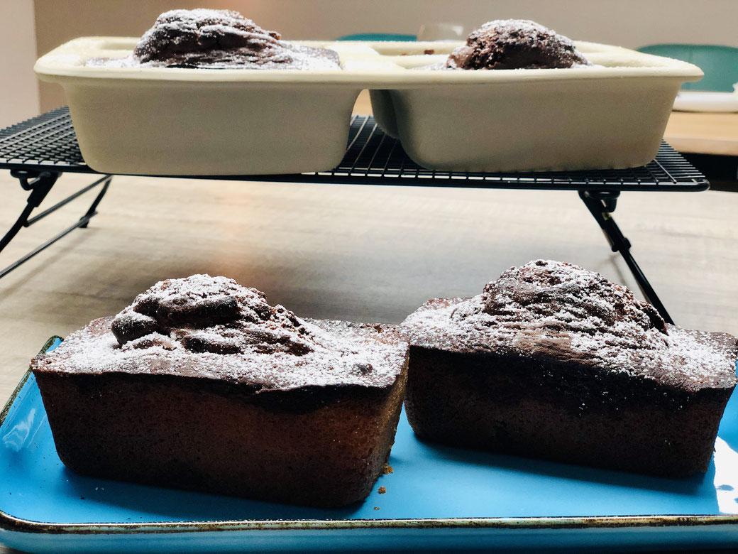 Saftigster Marmorkuchen aus der 4er Mini-Kastenform (ehem. 4er Zauberkästch**) von Pampered Chef® Backe dir gleich 4 süße kleine Marmorkuchen in der tollen 4er Stonewareform. In dieser Form backe ich auch kleine Brote oder Hackfleischbraten.